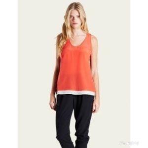 Joie Palla Colorblock Silk Sleeveless Blouse